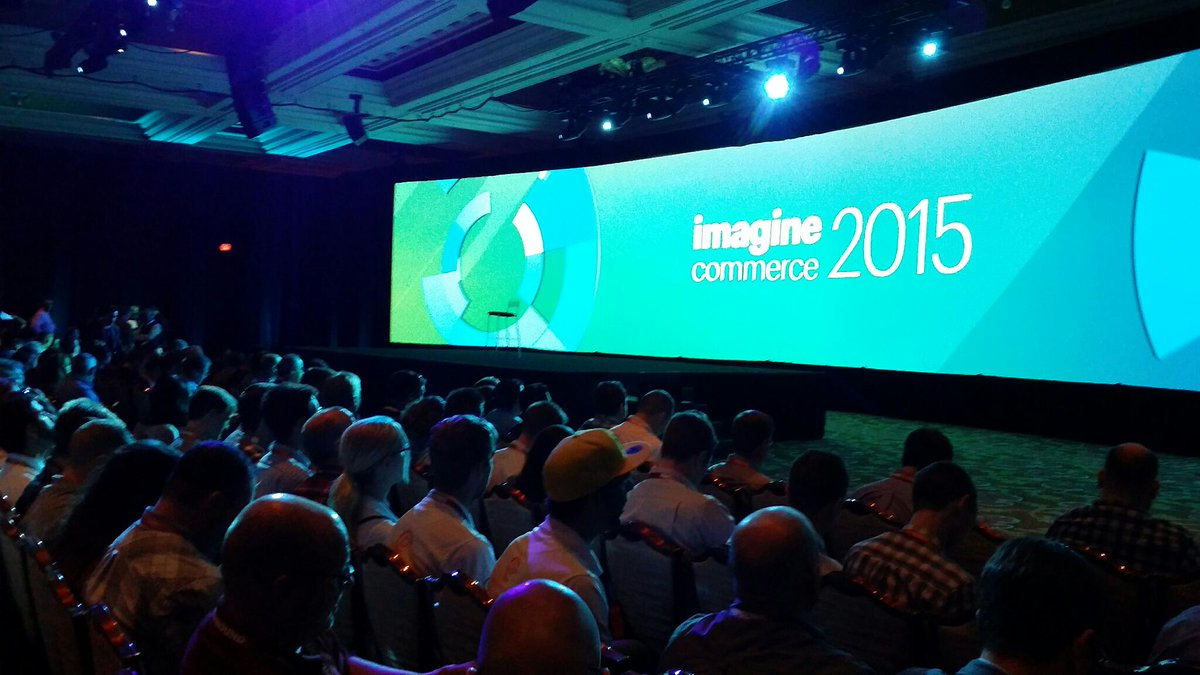 LawrenceByrd: LawrenceByrd: Bright lights, check. Rotating graphics, check. It's time for @magento #imaginecommerce keynotes. http://t.co/fXgcmamLNW