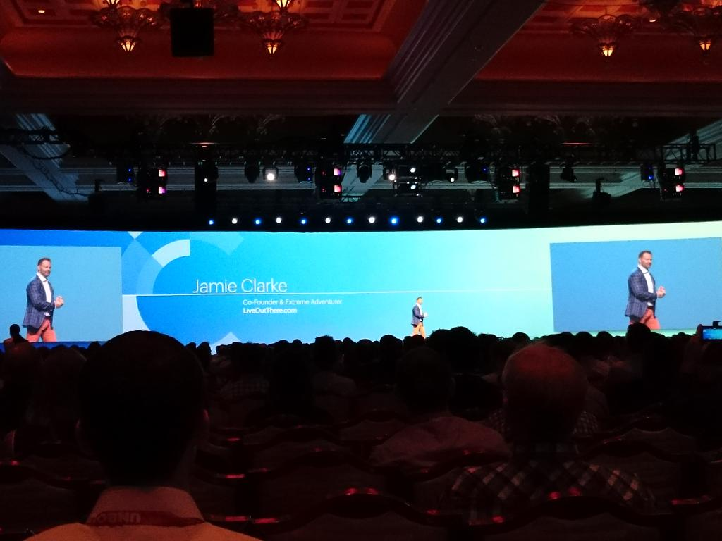 magento_rich: Jamie Clark @JC_Climbs on stage. #ImagineCommerce #RealMagento http://t.co/fGiWaMjTuq