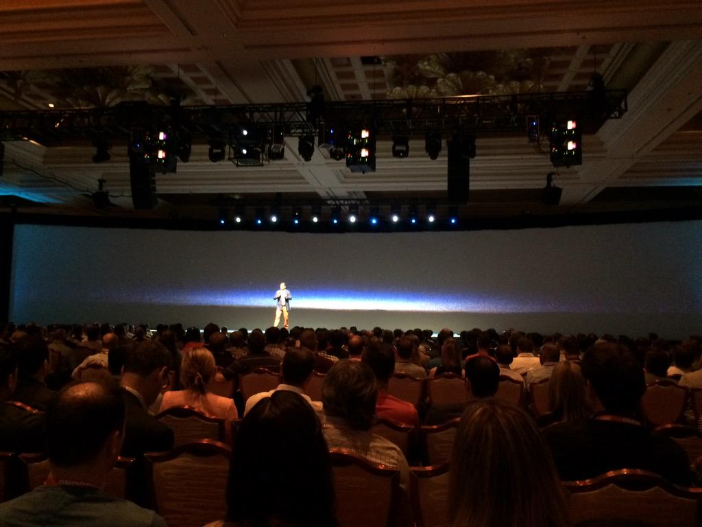 blackbooker: We've got Jamie Clark up up on stage! We found a theme! 'Unbound!' #ImagineCommerce http://t.co/6174YAZeDx