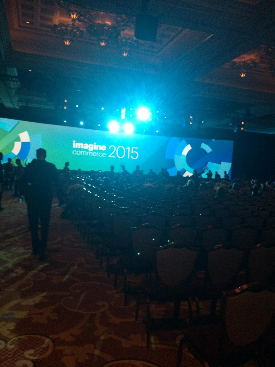 emilyculp: About to go out and fireside chat with 2400 people #imaginecommerce http://t.co/uJyKT0baZr
