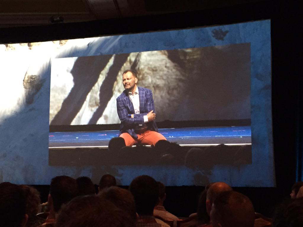 WebShopApps: Jamie's rolling around the floor @JC_Climbs #ImagineCommerce http://t.co/1YsBQvBqFl