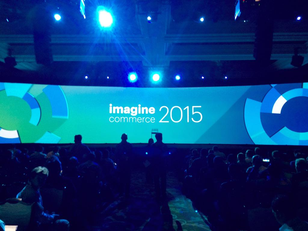 onetreeows: First keynote session #ImagineCommerce http://t.co/nZxXS7p3wR