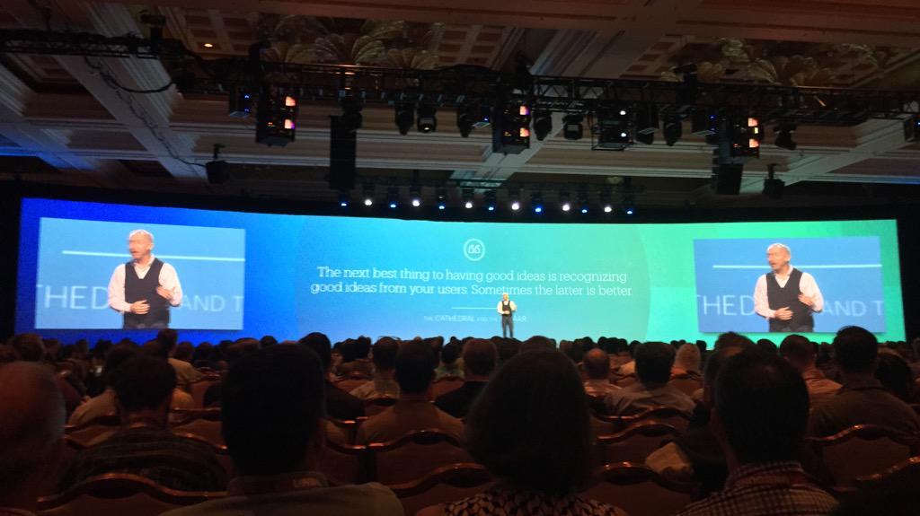 benmarks: 'The next best thing to having good ideas is recognizing good ideas from your users' - @chayman #ImagineCommerce http://t.co/2FGWSMDkiK