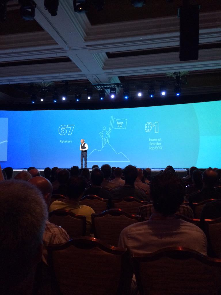 Hosting_Mike: Craig Hayman delivering the #ImagineCommerce keynote http://t.co/0y35PnHA3b