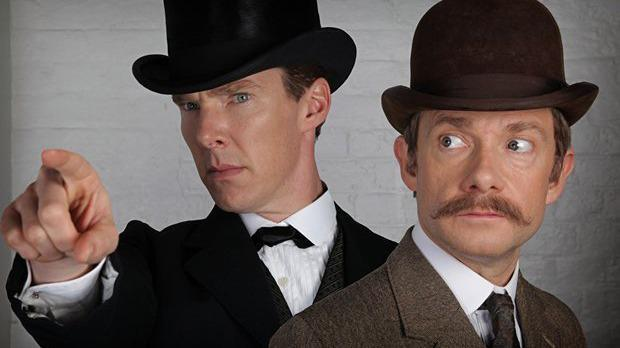Benedict Cumberbatch & Martin Freeman are heading for 1895 in the next #Sherlock. http://t.co/vtQg1SJtma #FilmedInLDN http://t.co/NprddsFQw4