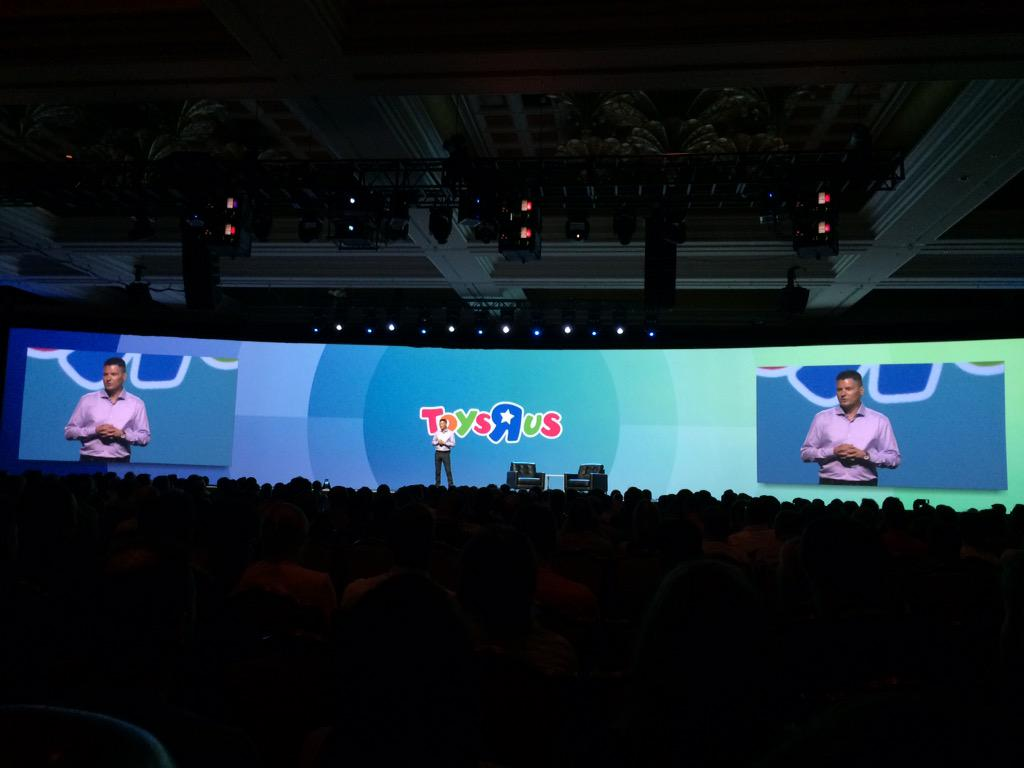 blackbooker: Chief Digital Officer form @ToysRUs up on stage at #ImagineCommerce http://t.co/5ELXS3t6Vu