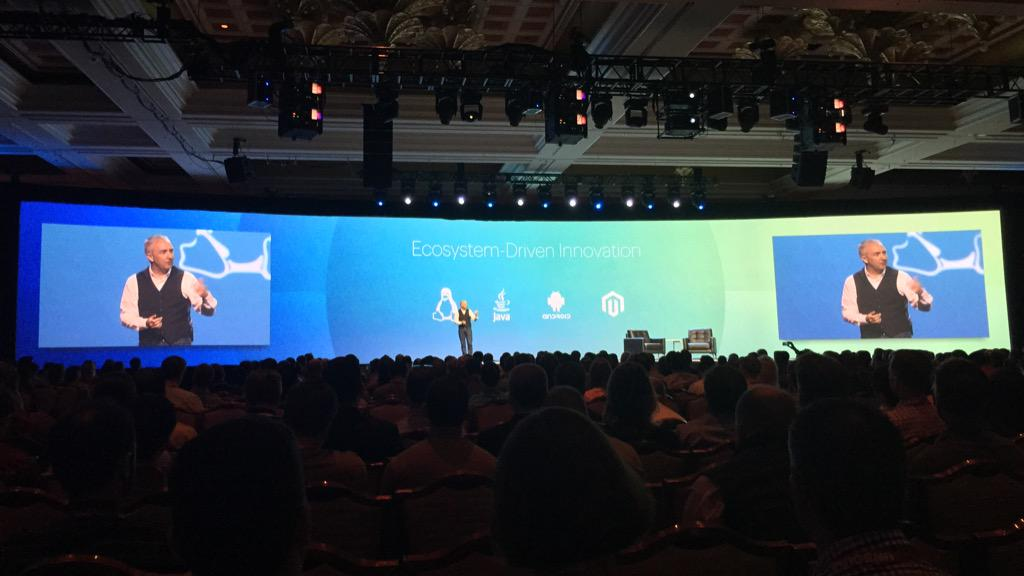 benmarks: Ah, a new definition of EDI which I rather like: Ecosystem-Driven Innovation. #ImagineCommerce http://t.co/9HYUkjueNF
