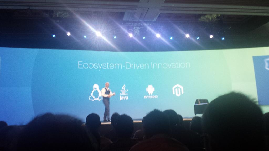 mgoldman713: what do @Linux @java @Android and @magento have in common? Craig Hayman tells us at @magentoimagine http://t.co/XbumVI7Ivr
