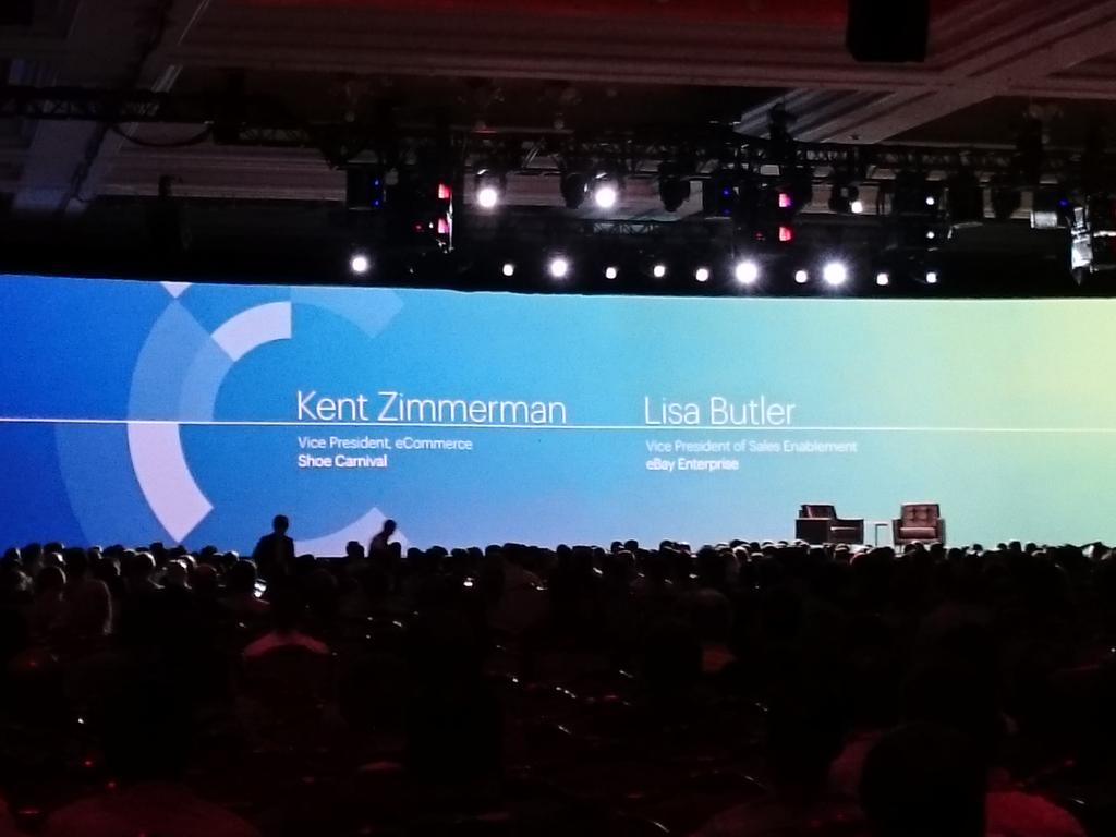 magento_rich: Lisa Butler, Kent Zimmerman on stage. Discussing #omnichannel @eBayEnterprise #ImagineCommerce http://t.co/oPPtypoRrj