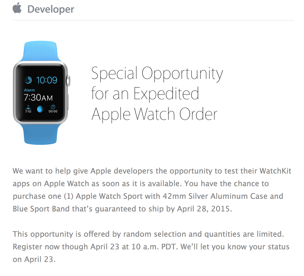 Just received this from Apple http://t.co/LSnw2I3s3t