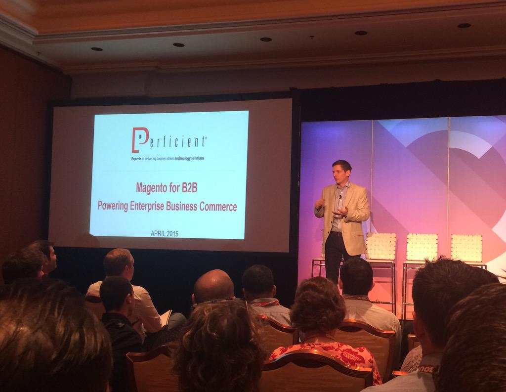agugala: B2B Commerce session w/ @_DavidHess from @Perficient  #imaginecommerce http://t.co/xSd1rf7Rti