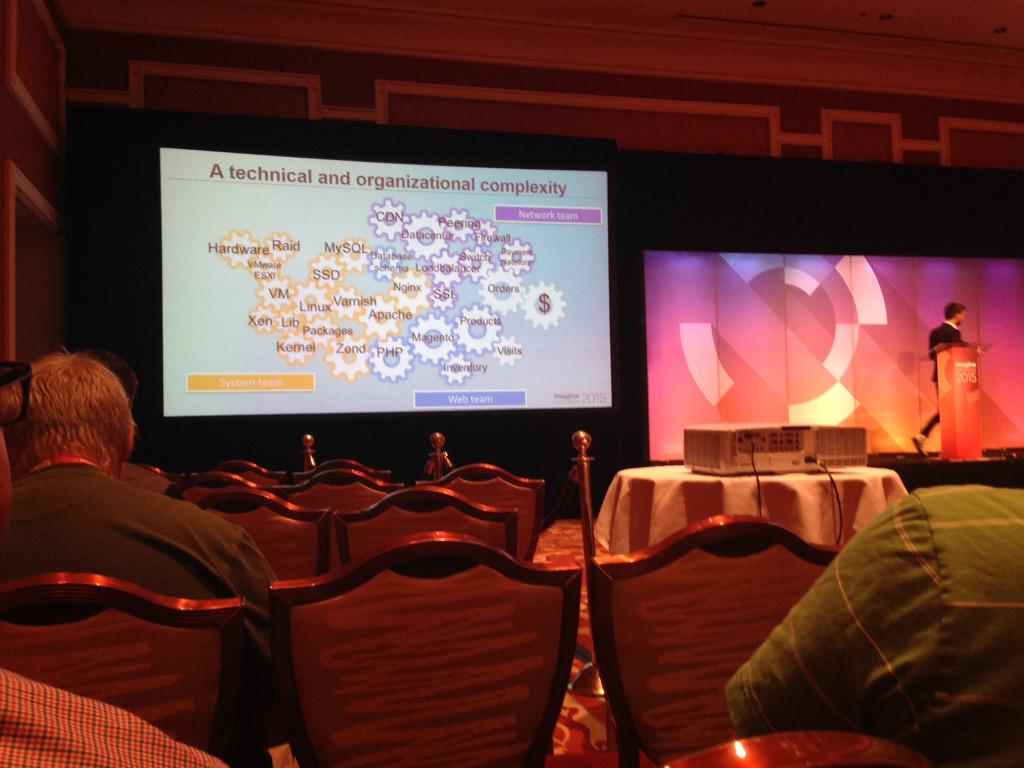 SheroDesigns: Multiple teams need to work together to Improve #Magento performance @gthibaux #ImagineCommerce http://t.co/U02o1YWfhL