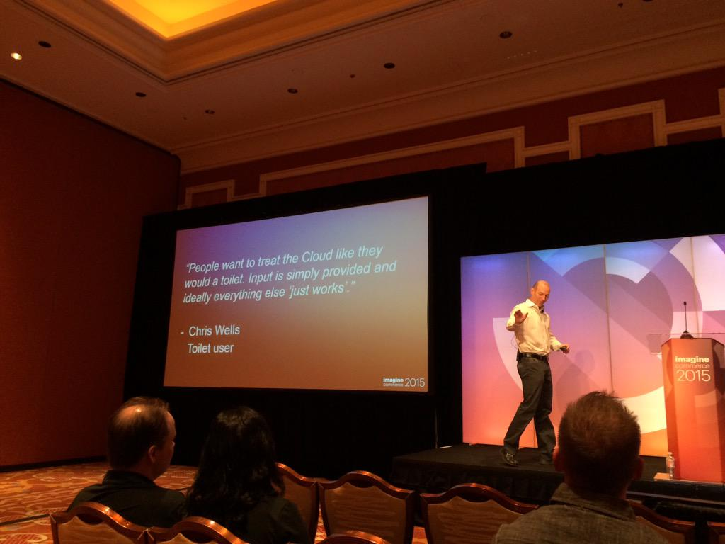 blackbooker: The cloud is like a toilet? What you say? What most folk treat it like. #ImagineCommerce http://t.co/4aZEh93ZAX