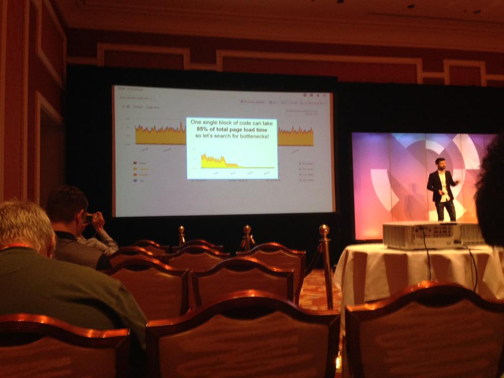 SheroDesigns: 85% of total page load time can be because of one single block! @gthibaux #ImagineCommerce http://t.co/IjsesxTDAg