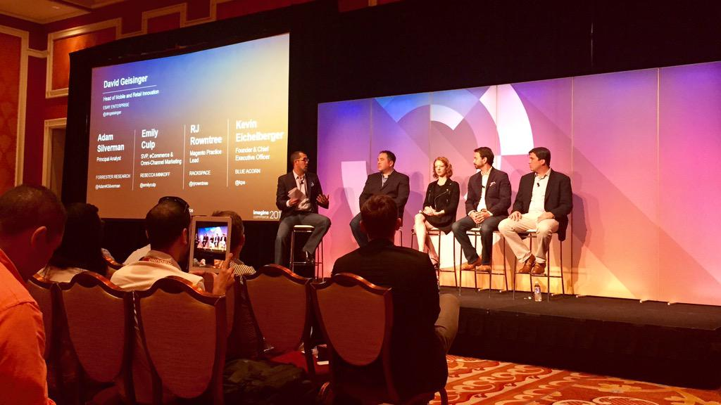 ericerway: Another great panel on omni-channel with Forrester, Rebecca Minkoff, Rackspace and Blue Acorn. #ImagineCommerce http://t.co/q2Kf4lbT5q