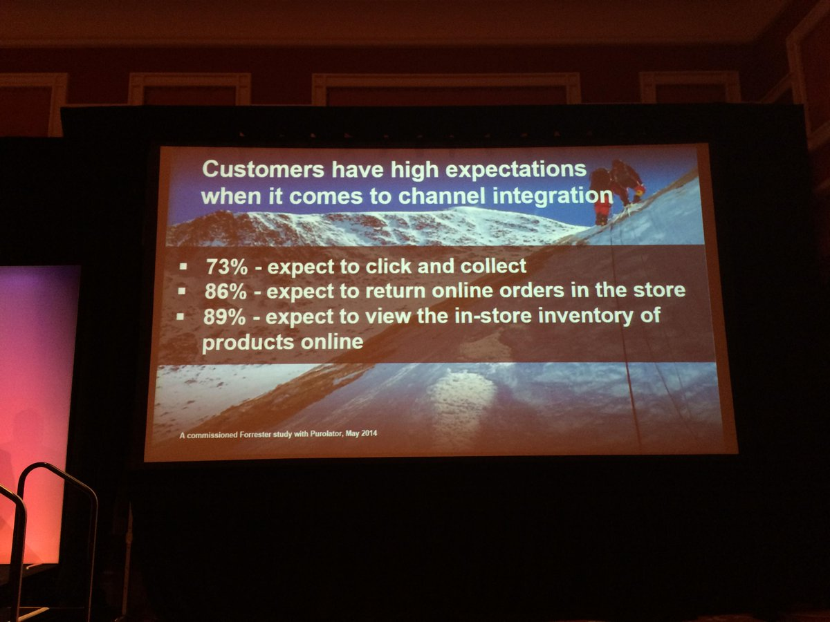 antoinekociuba: Customer expectations regarding channel integration #ImagineCommerce @AgenceSOON http://t.co/lsggQcgl6Y