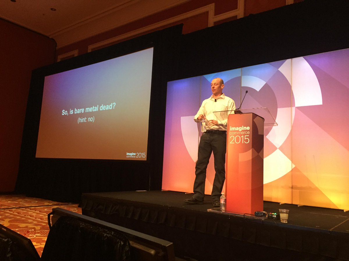 nexcess: Is bare metal dead? That's a big no. #ImagineCommerce #Magento http://t.co/y57AGrHzWS