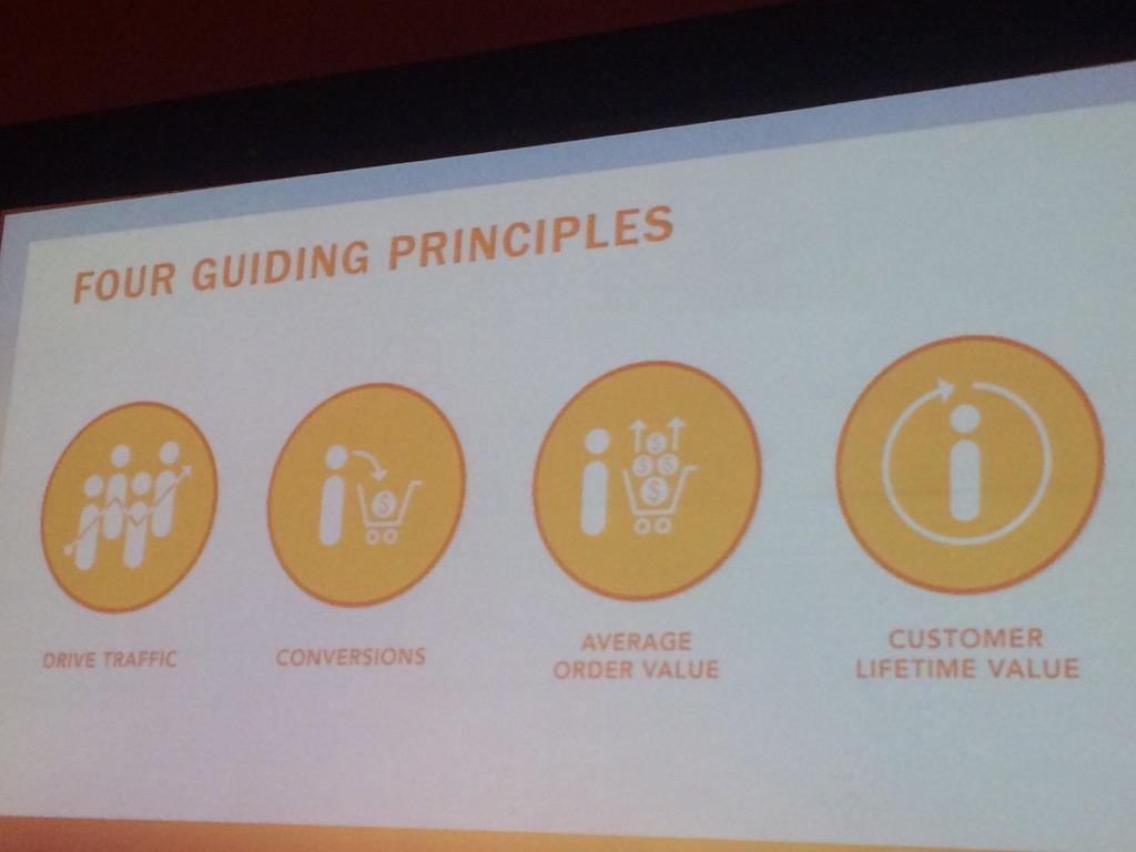 dotmailer: B2B customers expect the same user experience as a B2C customer. 4 key guiding principals #ImagineCommerce http://t.co/SJ3orNuikG