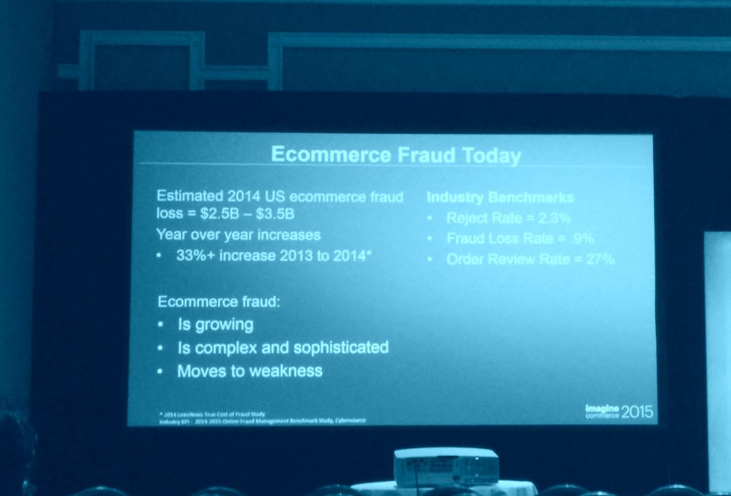 kshah24: Great statistics from @ebay Harold Paulsen on #ecommerce #fraud #ImagineCommerce cc:@WhitepagesPro http://t.co/WzCIJnzwku