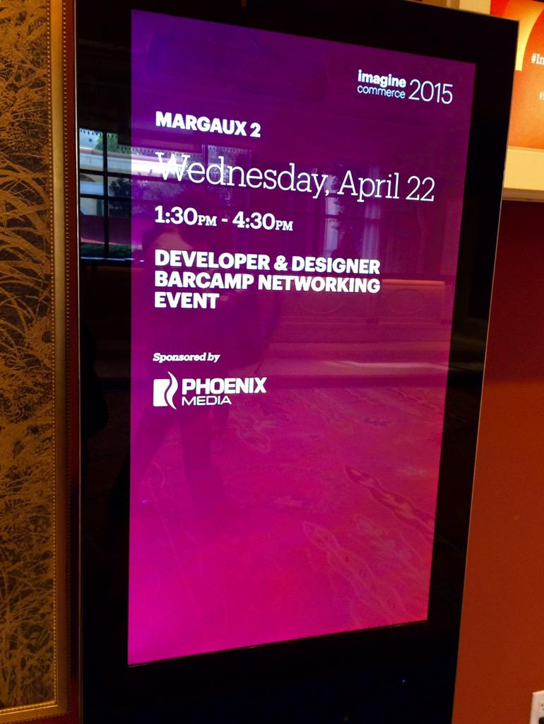 phoenix_medien: PHOENIX MEDIA is sponsoring the Designer BarCamp at #ImagineCommerce on Wednesday! Join the BarCamp and get inspired! http://t.co/MygkPgusQs