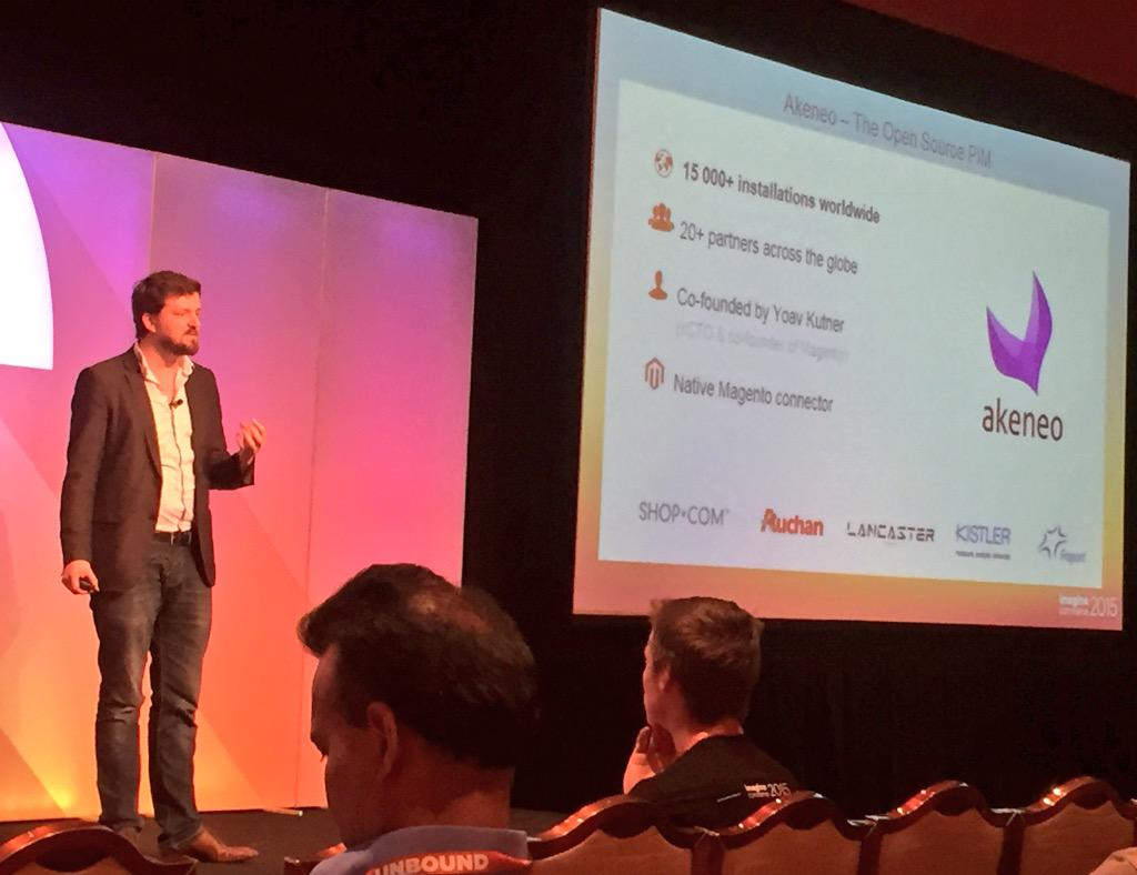 AgenceSOON: @akeneopim presentation by @FdeGombert @ #ImagineCommerce - every product data in one place #ImagineCommerce #amazing http://t.co/e7Co0gYxL7