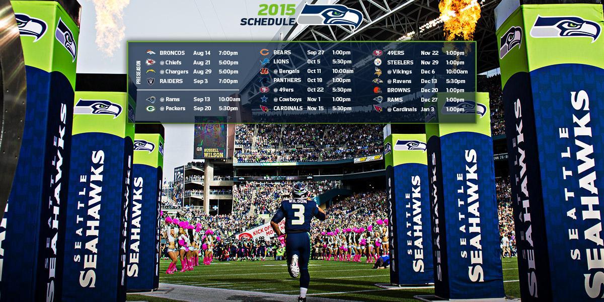 Seattle Seahawks 2016 2017 Printable Schedule 2017