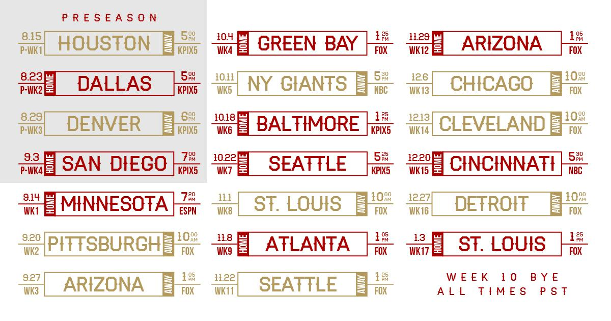 San francisco 49ers on twitter take a look at the 49ers - 2015 49ers schedule wallpaper ...