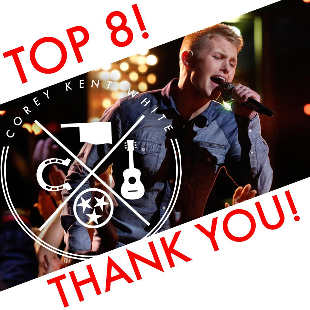 Thank you America! Love you guys! #CountryStrong #CKWarriors #TeamBlake #VoiceResults http://t.co/CbzOzG56HG