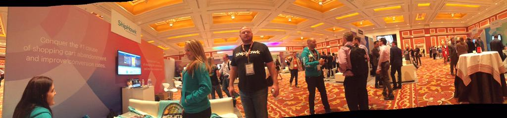 connor_shiphawk: The @Shiphawk crew experiencing everything they Imagined at #ImagineCommerce #ThinkBigger http://t.co/gzISTwfsQ9