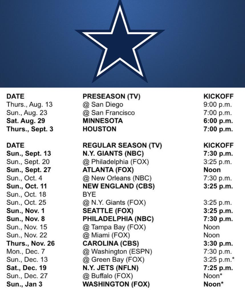 "michael lark on twitter: ""dallas cowboys 2015-16 schedule"