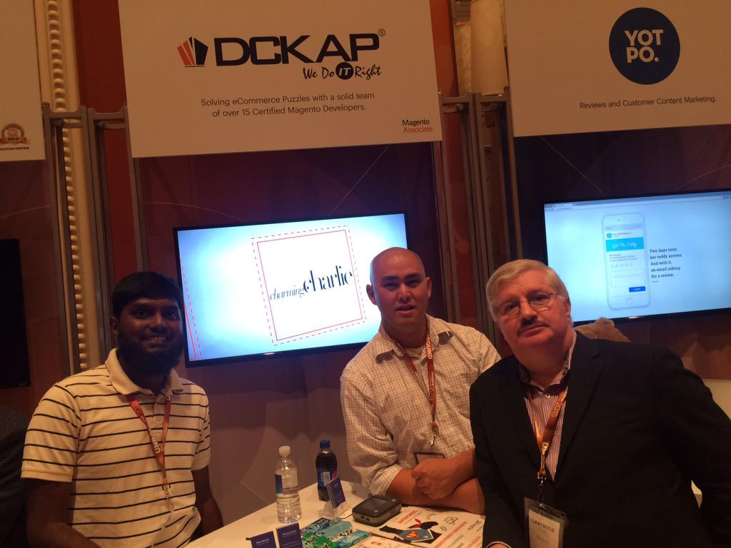 nmohanswe: @DCKAP team with @Altocloud in booth 28 #ImagineCommerce http://t.co/GoS9IhfMcV
