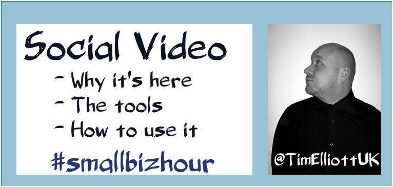 So 2 minutes of intro then we will crack on with the #SocialVideo chat shall we? #SmallBizHour http://t.co/IZWCGyhog8