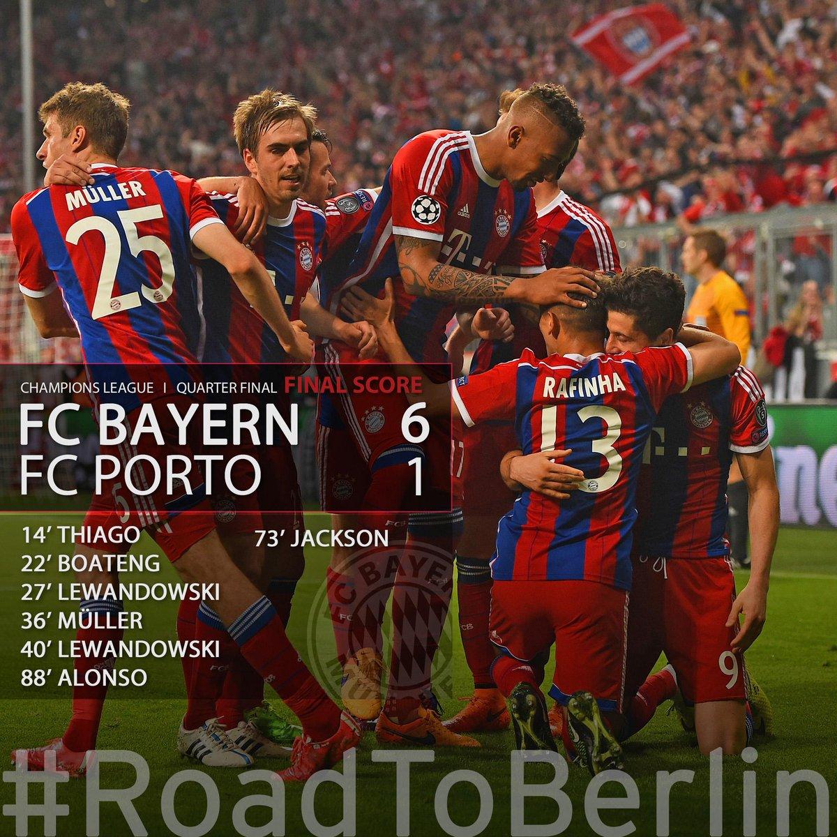 Bayern Múnich aplastó 6-1 a Porto y está en semis de Cham