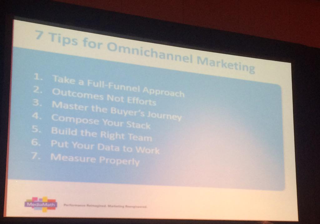 dotmailer: Top 7 tips for omnichannel marketing from @MediaMath at #ImagineCommerce http://t.co/A5LsfBcRnT