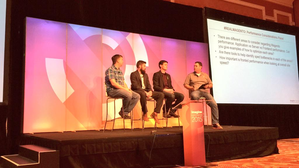 benmarks: Expert panel on performance in #realmagento at #ImagineCommerce http://t.co/OR2VeoE5os