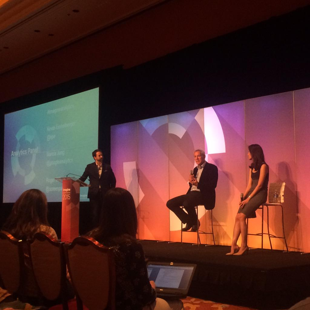 dotmailer: Discussion on analytics at #ImagineCommerce with @kpe @Screebles @googleanalytics http://t.co/5g1ioGYyj9