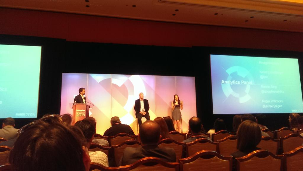 inspiratica: Great panel on Analytics with @kpe, @screenpages, and @googleanalytics. #ImagineCommerce http://t.co/aVxLJNHPtn