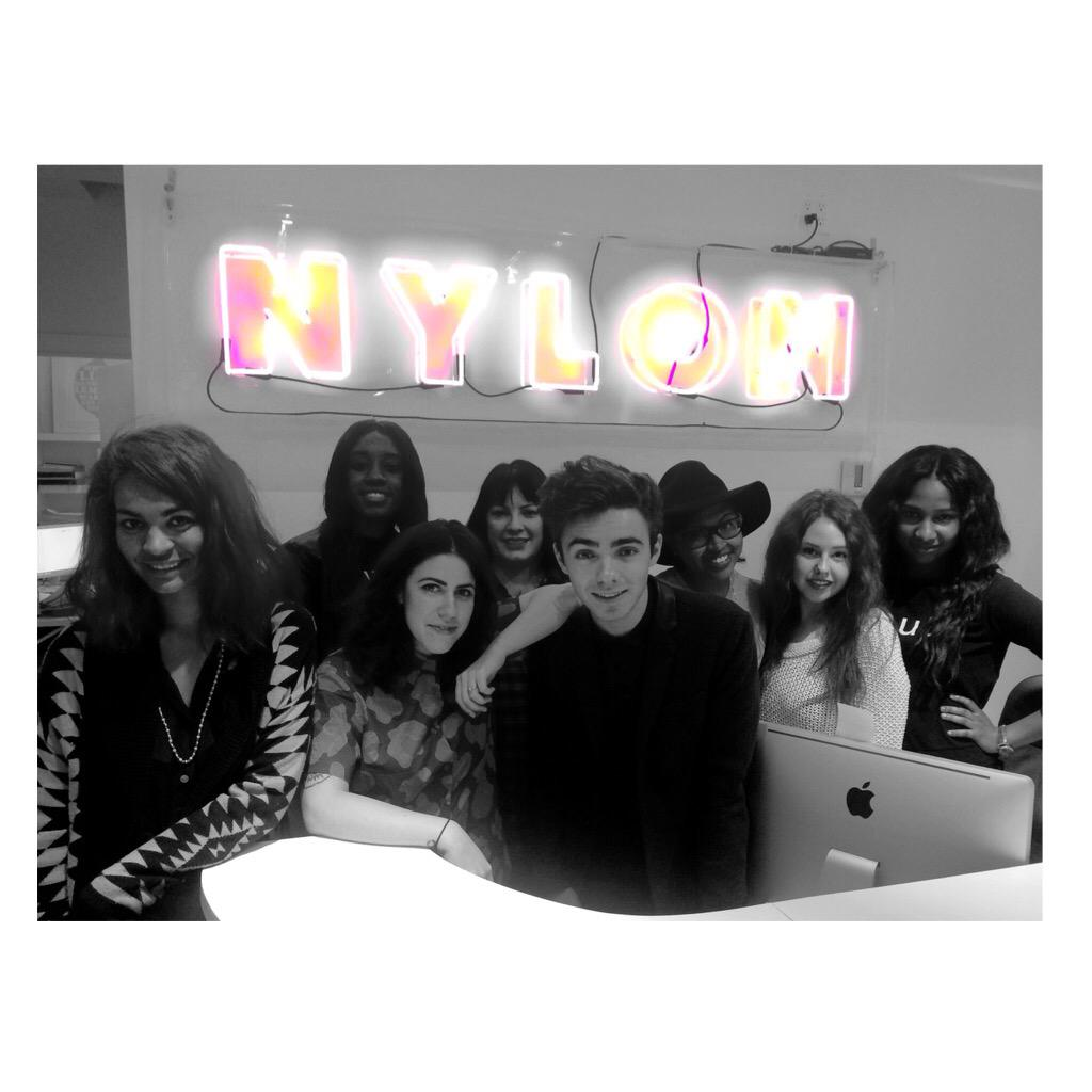 Lots of fun today with the @NylonMag team. Thanks for helping me beat the jet lag! https://t.co/7J8ifdxJOe http://t.co/b2obsAWFum