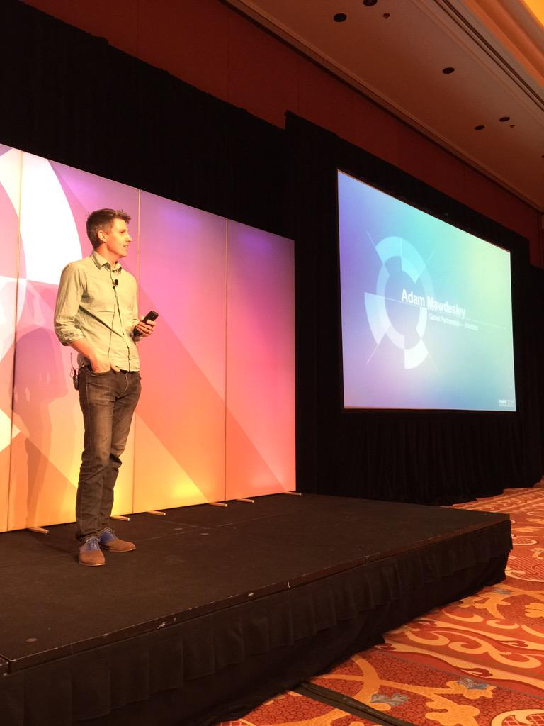alexanderpeh: Live now in Mouton 2 @magento #ImagineCommerce Adam Mawdesley from @braintree & @PayPal talking #mobile http://t.co/2EOsBzJyu9