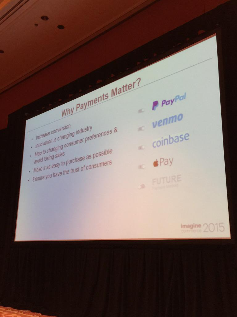alexanderpeh: Why #Payments matter? #ImagineCommerce @PayPal @braintree http://t.co/MiGu5iD3GU