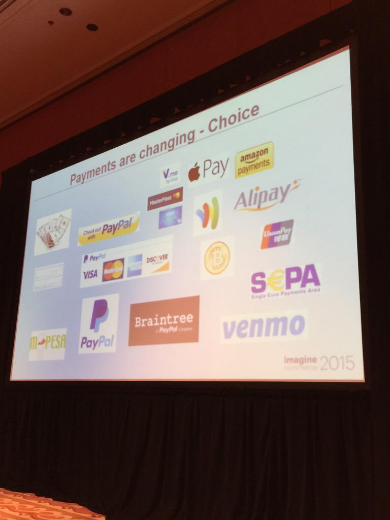 alexanderpeh: #Payments are changing via @PayPal & @braintree #ImagineCommerce @magento http://t.co/qtioMrVaWf
