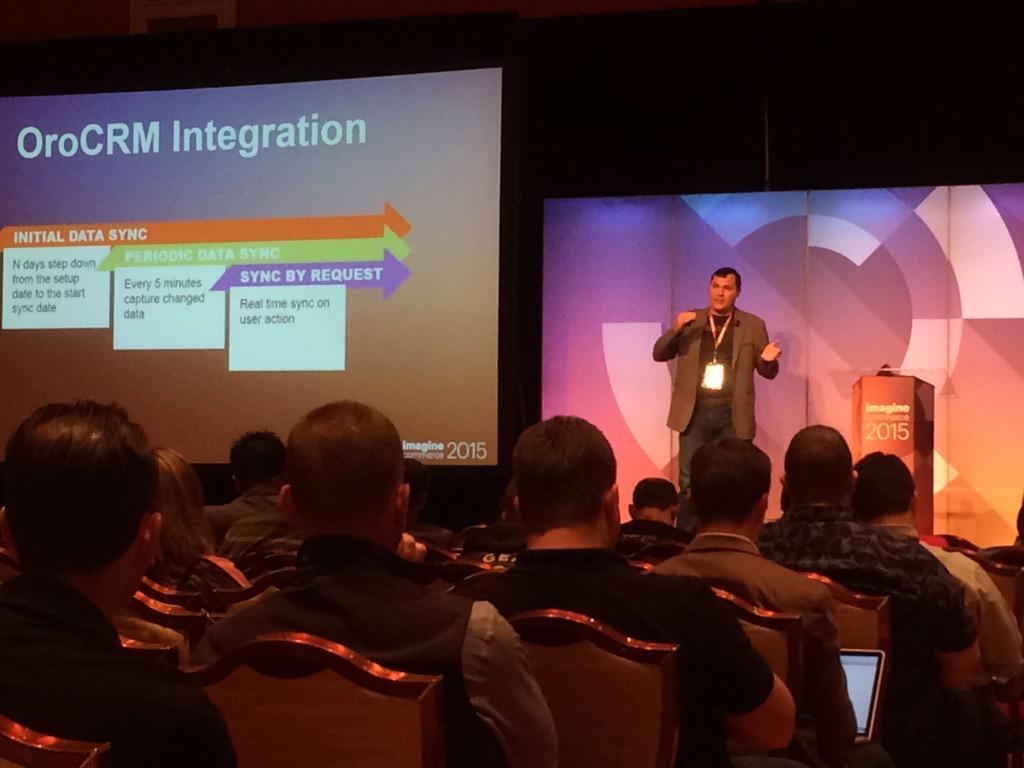 madiaecommerce: @dmitriysoroka from our partner @OroCRM talks about integration magenta data via API @imaginecommerce http://t.co/ooJy4tf0Qa