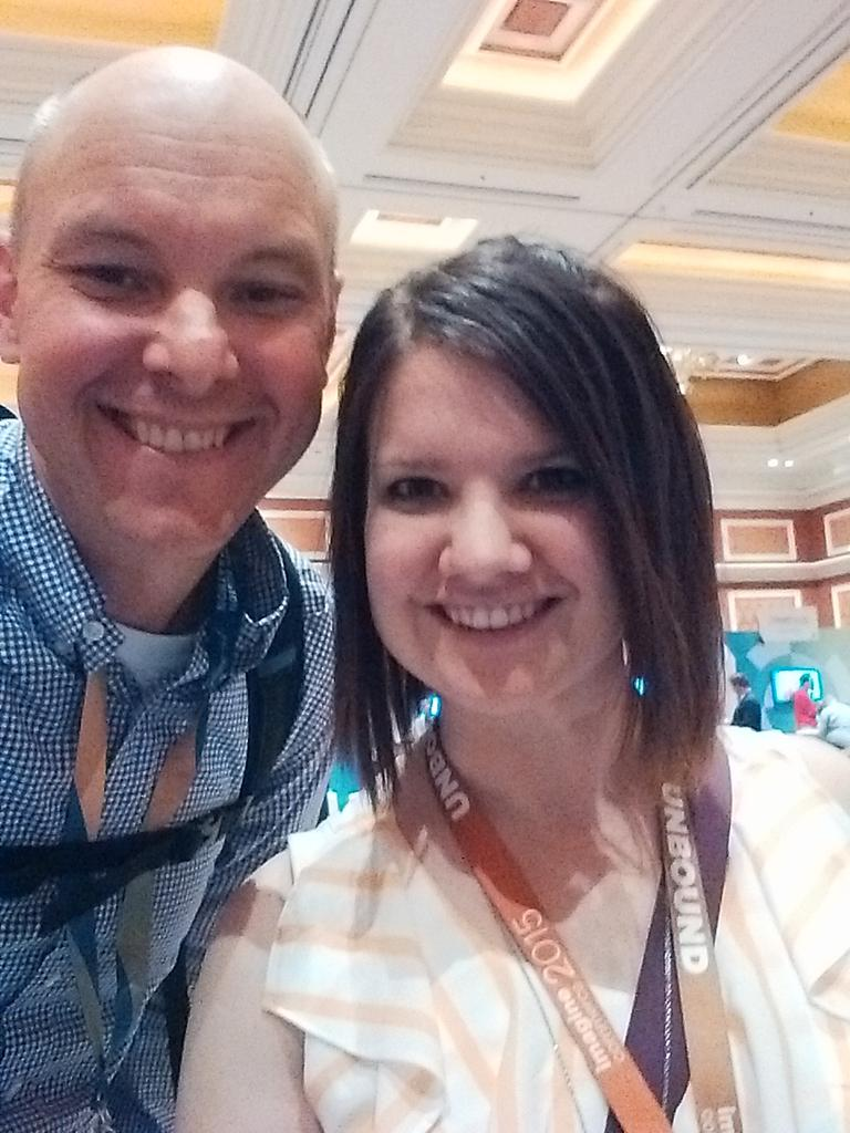 brentwpeterson: Yes I am here with @sherrierohde #ImagineCommerce http://t.co/mEqb1QNNMJ