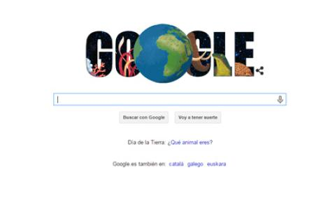 Giornata mondiale della Terra 2015 Doodle Google 22 aprile 2015 con Quiz della Giornata della Terra