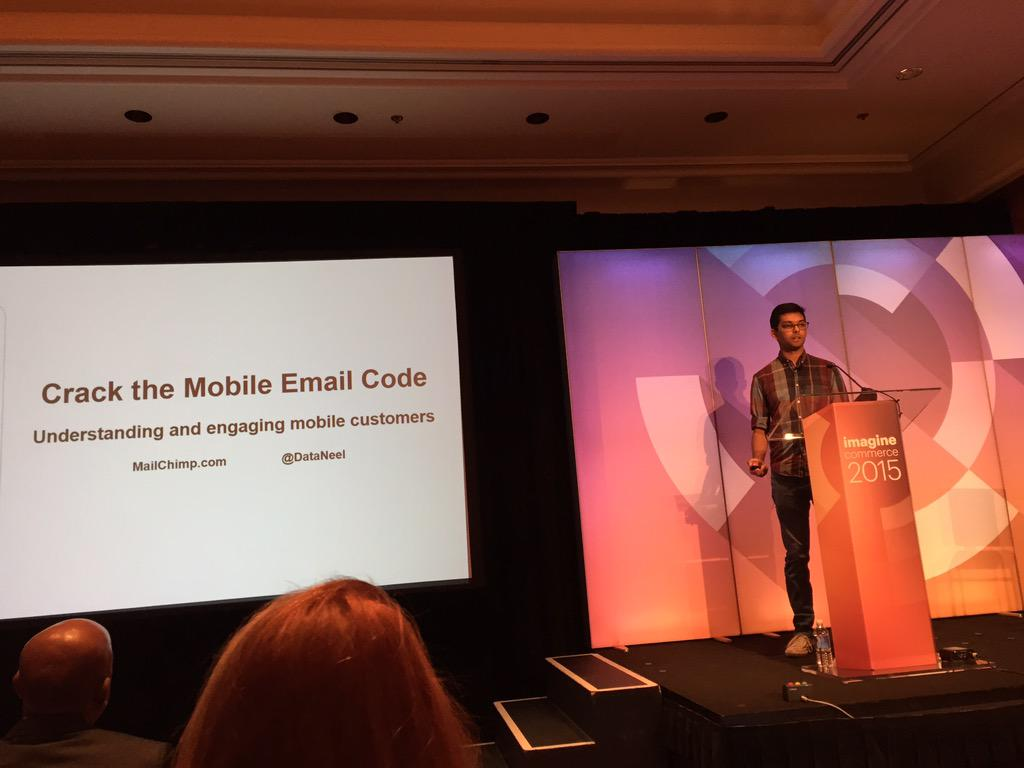 ebizmarts: Cracking the Email Code by @DataNeel at  #ImagineCommerce cc/@MailChimp http://t.co/vFdZhAp3q4