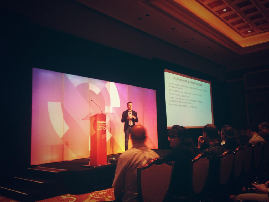 aronstanic: A lot of useful tips&tricks on future-proofing SEO for #Magento sites presented by @paulnrogers at #ImagineCommerce http://t.co/xPG72bzvV4