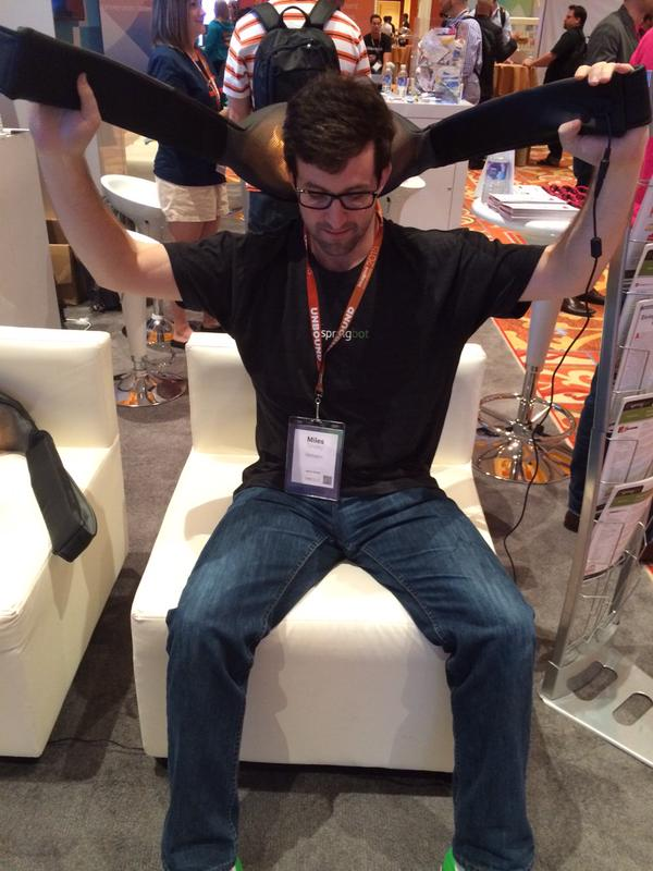springbot: This dude is taking relaxing to a whole new level. #MagentoImagine http://t.co/R9bl4MVCEl
