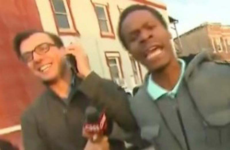 Video: Freddie Gray protesters cuss out CNN