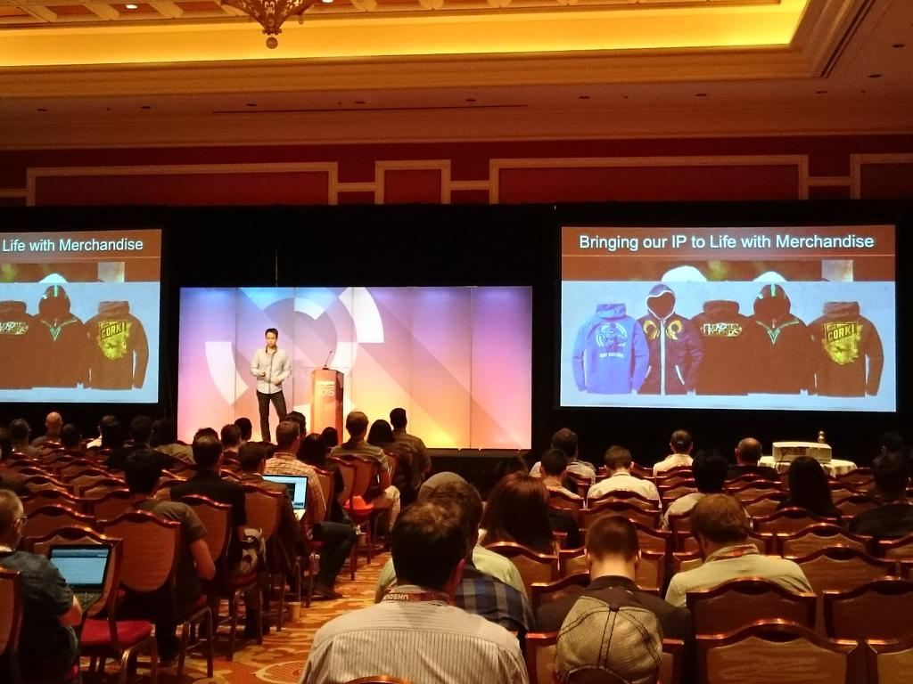magento_rich: Jonathan Lai @riotgames, breakout session, Merchandise on a global scale. #ImagineCommerce @magento http://t.co/Ye504yOXny