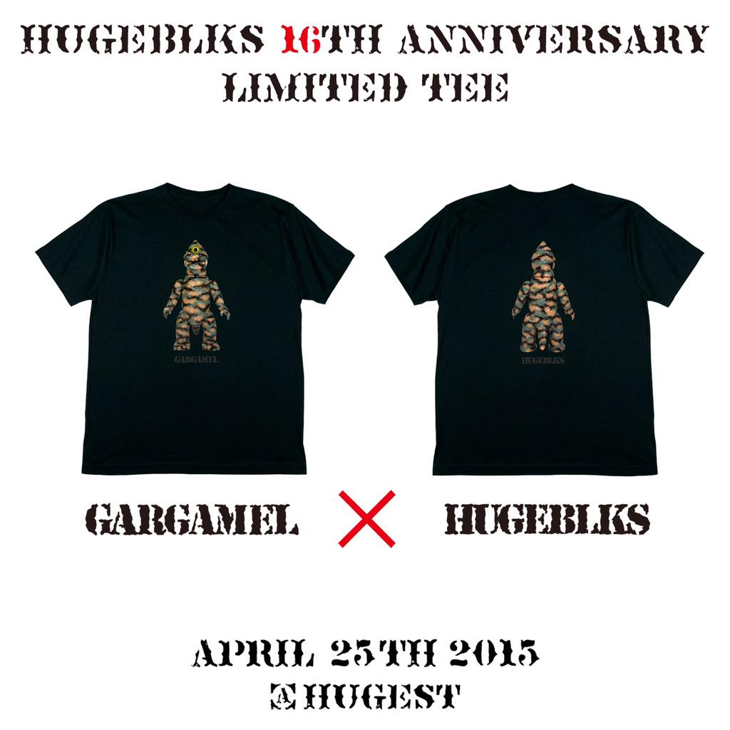 今週末にHUGESTにて開催のGARGAMELによる【THE THRASH OUT SHOW Vol.3】にて、HUGEBLOCKSの16周年コラボWネームTシャツを限定リリース!! https://t.co/1UkExDE5hN http://t.co/8wOmSieMN5